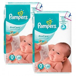 Pampers - Mega pack 190 Couches ProCare Premium protection taille 0 sur Les Couches