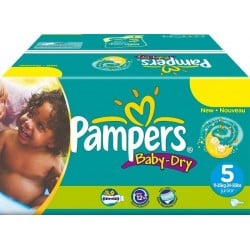 Pampers - Pack 92 Couches Baby Dry taille 5