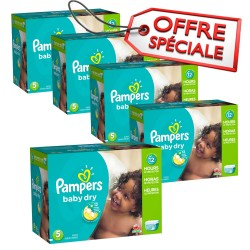 Pampers - Mega pack 161 Couches Baby Dry taille 5 sur Les Couches