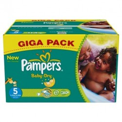 Pampers - Mega pack 184 Couches Baby Dry taille 5 sur Les Couches