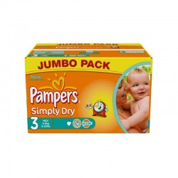 LesCouches Pack 90 couches Pampers Simply Dry