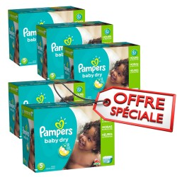 Pampers - Maxi giga pack 322 Couches Baby Dry taille 5 sur Les Couches