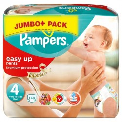 Pampers - 140 Couches Easy Up taille 4 sur Les Couches