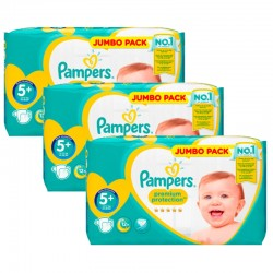 Pampers - Pack 80 Couches New Baby Premium Protection taille 5+ sur Les Couches