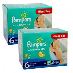 Pampers - Pack 48 Couches Active Baby Dry taille 6 sur Les Couches