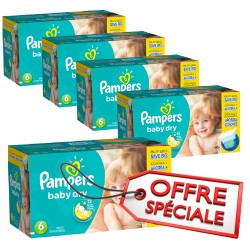 Pampers - Mega pack 152 Couches Baby Dry taille 6 sur Les Couches