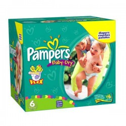 Pampers - Giga pack 228 Couches Baby Dry taille 6 sur Les Couches