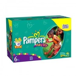 Pampers - Maxi giga pack 380 Couches Baby Dry taille 6 sur Les Couches