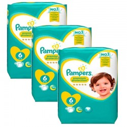 Pampers - Pack 62 Couches New Baby Premium Protection taille 6 sur Les Couches