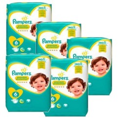 Pampers - Pack 93 Couches New Baby Premium Protection taille 6 sur Les Couches