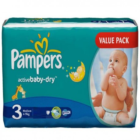 192 couches pampers active baby taille 3 en promotion sur les couches - Couches pampers taille 3 ...
