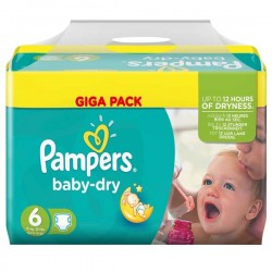 Pampers - 198 Couches Baby Dry taille 6