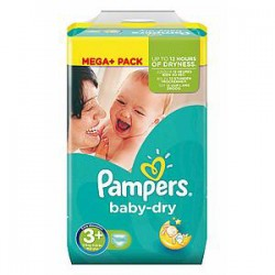 Pampers - 328 Couches Baby Dry taille 3+
