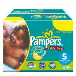 Pampers - 176 Couches Baby Dry taille 5 sur Les Couches