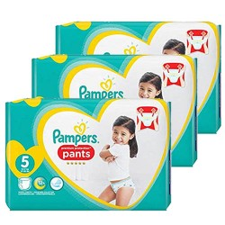 Pampers - Giga pack 204 Couches Premium Protection Pants taille 5 sur Les Couches