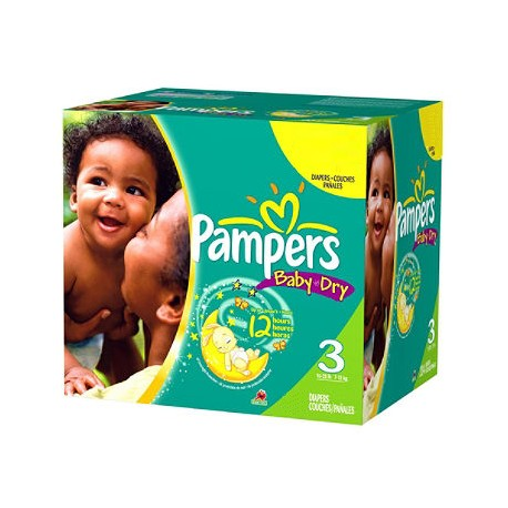 Pampers - Giga pack 270 Couches Baby Dry taille 3 sur Les Couches