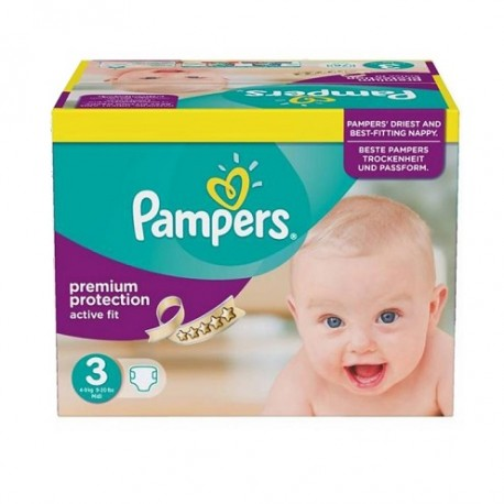 Pampers - 340 Couches Active Fit taille 3 sur Les Couches