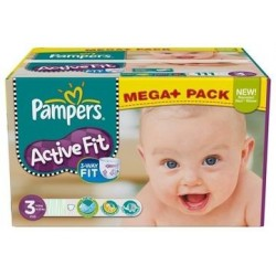 Pampers - Maxi mega pack 408 Couches Active Fit taille 3