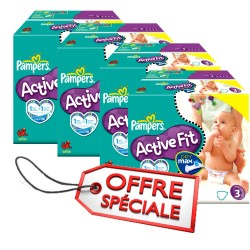 Pampers - Maxi mega pack 476 Couches Active Fit taille 3