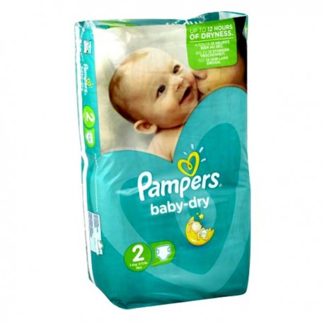 44 couches pampers baby dry taille 2 pas cher sur les couches - Couches pas cher taille 2 ...