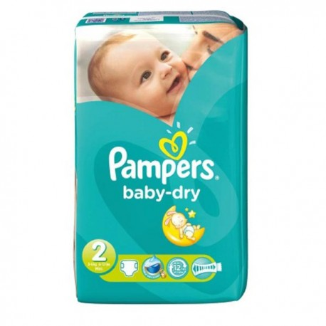 Pampers - Pack 33 Couches Baby Dry taille 2 sur Les Couches