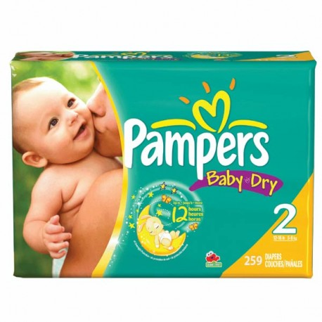 Pampers - Mega pack 132 Couches Baby Dry taille 2 sur Les Couches