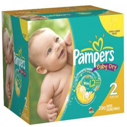 165 Couches Pampers Baby Dry