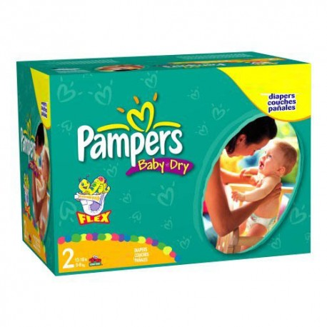 Pampers - Mega pack 198 Couches Baby Dry taille 2 sur Les Couches