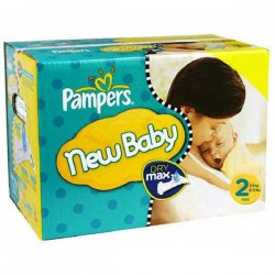 Pampers - Giga pack 297 Couches Baby Dry taille 2 sur Les Couches