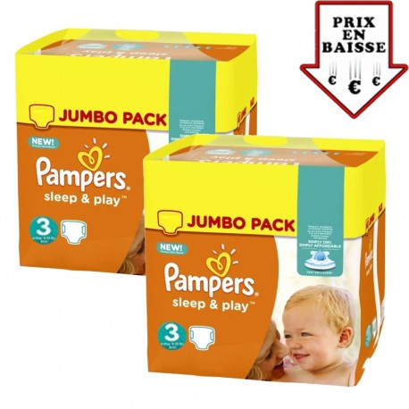 Pampers - Mega pack 156 Couches Sleep & Play taille 3 sur Les Couches