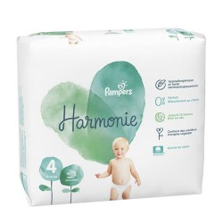 Pampers - Pack 28 Couches Harmonie taille 4