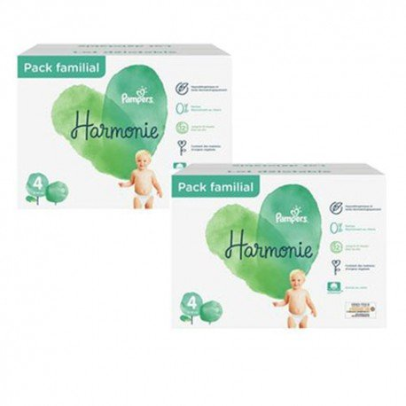 Pampers - Maxi giga pack 336 Couches Harmonie taille 4 sur Les Couches