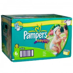 Pampers - Mega pack 156 Couches Baby Dry taille 6 sur Les Couches
