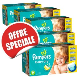 Pampers - Giga pack 208 Couches Baby Dry taille 6 sur Les Couches