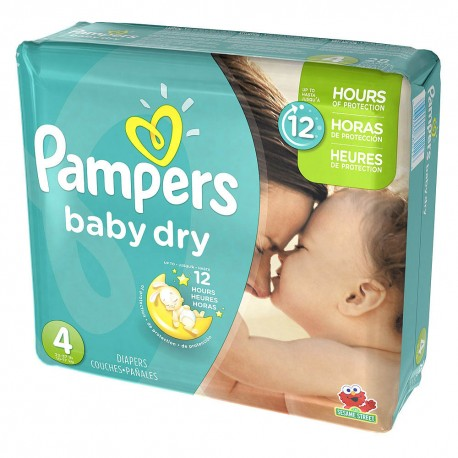 Pampers - Mega pack 156 Couches Baby Dry taille 4 sur Les Couches