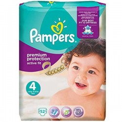 Pampers - 52 Couches Active Fit taille 4 sur Les Couches