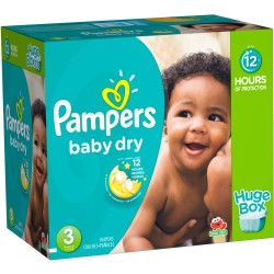 Pampers - 300 Couches Baby Dry taille 3 sur Les Couches