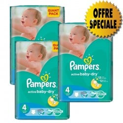 Pampers - Pack jumeaux 546 Couches Active Baby Dry taille 4 sur Les Couches