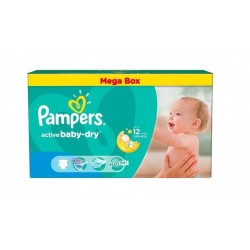 Pampers - Pack jumeaux 559 Couches Active Baby Dry taille 4