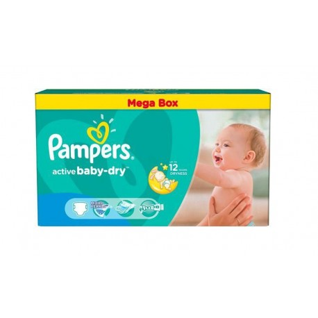 Pampers - Pack jumeaux 559 Couches Active Baby Dry taille 4 sur Les Couches