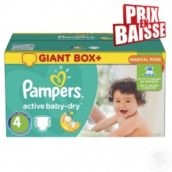 Pampers - Pack jumeaux 611 Couches Active Baby Dry taille 4