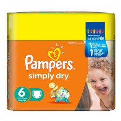 LesCouches Maxi Giga Pack 124 couches Pampers Simply Dry