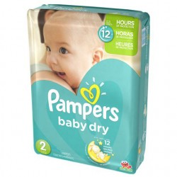 Pampers - 42 Couches Baby Dry taille 2 sur Les Couches