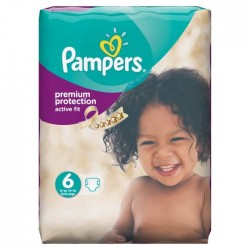 Pampers - 64 Couches Active Fit taille 6 sur Les Couches