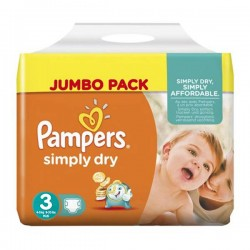 LesCouches Pack 56 couches Pampers Simply Dry