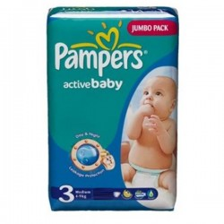 LesCouches Pack 96 couches Pampers Active Baby