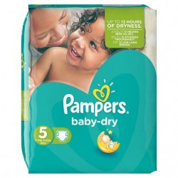 Pampers - 180 Couches Baby Dry taille 5
