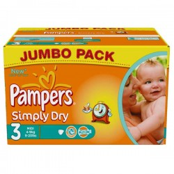 Pampers - 280 Couches Simply Dry taille 3