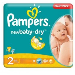 Pampers - 58 Couches New Baby Dry taille 2