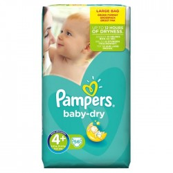 Pampers - 56 Couches Baby Dry taille 4+